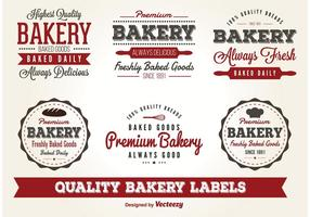 Vector Bageri Etiketter