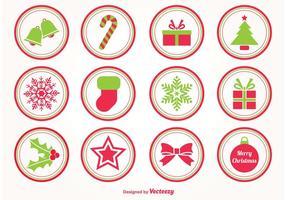 Kerst vector postzegels