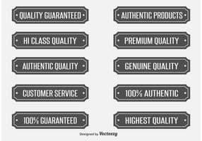 Étiquettes vectorielles de qualité
