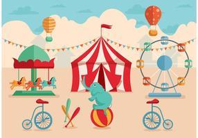 Retro circusvectoren afspelen