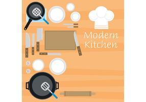 Vetores modernos da cozinha