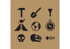 Vetores de ícones de arqueologia