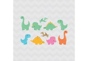 Dinosaurios vector