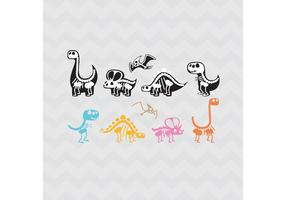 Vectores de los huesos de dinosaurio