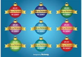 Christmas Discount Vector Baubles