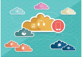Vector de concept de Cloud Computing