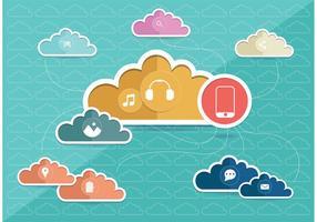 Vector de conceito de computação em nuvem
