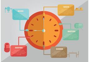 Vector diario del planificador