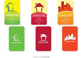 Diseños del vector de la tarjeta de los bienes raices