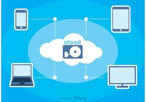 Cloud Computing Vector de fondo
