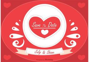 Romantic-save-the-date-vector