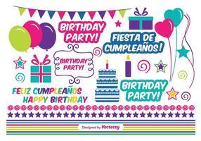 Elementos del vector del cumpleaños