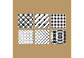 Simple B&W Patterns 6 vector