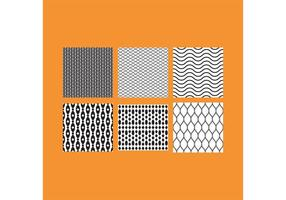Simple B&W Patterns 5 vector