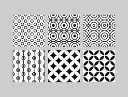 Simple B&W Patterns 4 vector