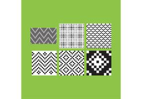 Simple B&W Patterns 3 vector