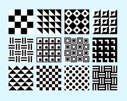 Simple B&W Patterns vector