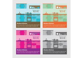 Modernos fondos de vectores de cocina