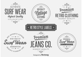 Retro Style Labels