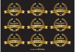 Goldqualitätsetiketten