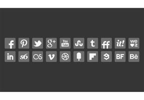 Grijs Social Media Icon Vectors