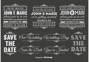 Bruiloft Typografie Elementen