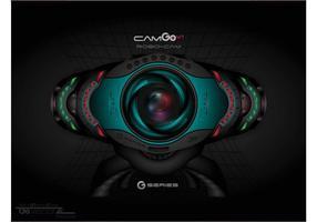 Futuristisk webbkamera vektor