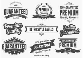 Etiquetas promocionales de calidad retro