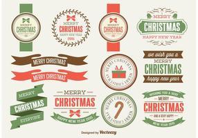 Rétro éléments de conception de Noël