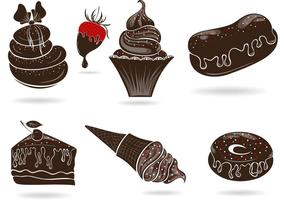 Set-of-free-vector-sweets-with-chocolate