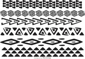Hawaiianische Tribal Pattern Vectors Pack 1