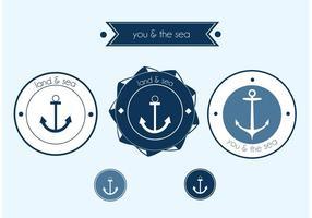 Free Vector Sailor Label Vector Set