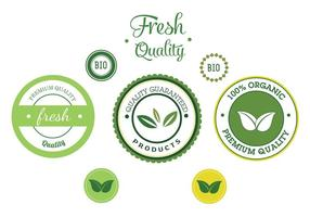 Gratis Vector Bio Label Vector Set