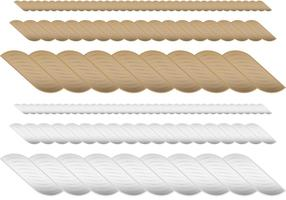 Vecteurs de cordes marron et blanc