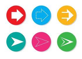 Ícones de vetor de seta configurados