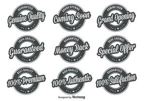 Quality Retro Badges vector