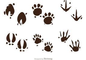 Muddy Animal Footprint Vectors
