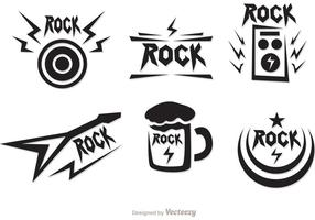 Rockmusiksymboler vektorer pack