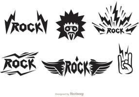 Vetores de símbolos de música rock