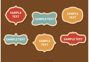 Design Retro Frames Vectors Pack