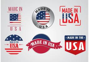 Made in USA Vectores