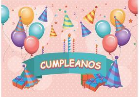Vettore di compleanno cumpleaños