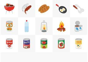 Gratis Camp Food Vector Icon Set