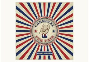 Gratis Vintage Carnival Fun Fair Vector Bakgrund