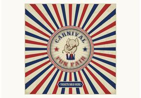 Vintage Carnival Fun Fair Vector Background
