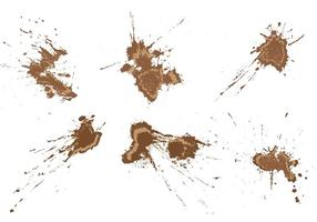 Grunge Mud Splatters vector