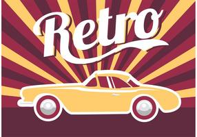 Carro do cartaz retro