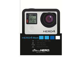 GoPRO Kamera Vektor Hero4 Schwarz