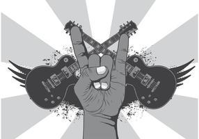 Rock n roll símbolo de la música de vectores de fondo
