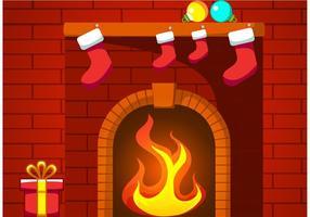 Vetor de lareira de Natal